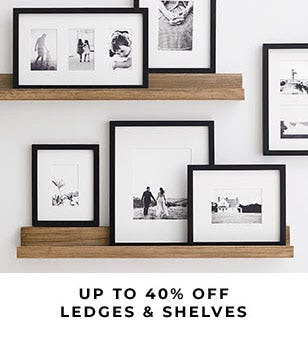 Up to 40% Off Ledges & Shelves from Pottery Barn