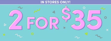2 for $35 Select Items from Build-A-Bear Workshop