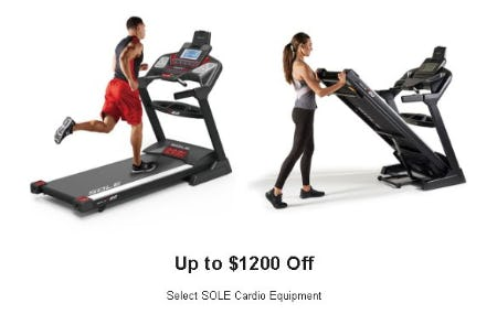 Up to $1200 Off Select SOLE Cardio Equipment