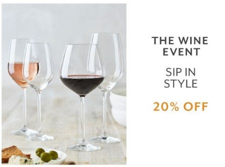 The Wine Event 20% Off from Sur La Table