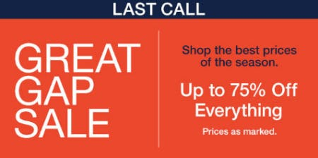 Up to 75% Off Great Gap Sale from Gap