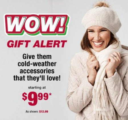Cold-Weather Accessories Starting at $9.99