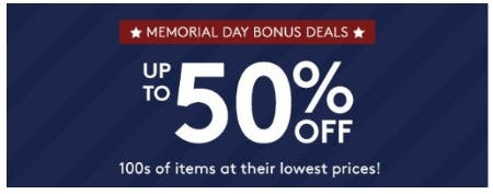 Memorial Day Bonus Deals up to 50% Off from Pottery Barn Kids