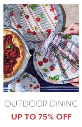 Outdoor Dining Up to 75% Off from Sur La Table