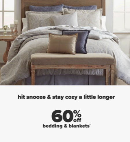 60% Off Bedding & Blankets