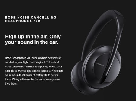 The Bose Noise Cancelling Headphones 700 from Bose