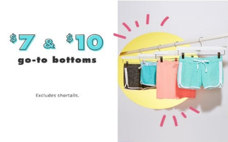 $7 & $10 Go-To Bottoms from Justice