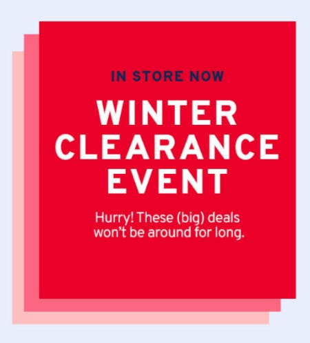 Winter Clearance Event from Marshalls
