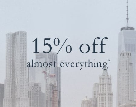 15% Off Almost Everything from Abercrombie & Fitch