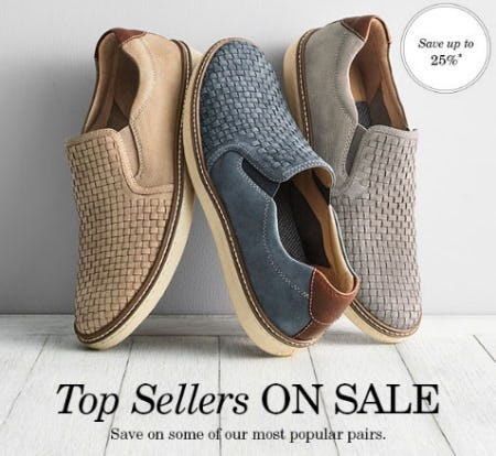 Up to 25% Off Men's Slip-On Shoes from JOHNSTON & MURPHY