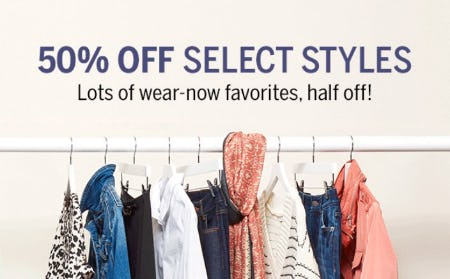 50% Off Select Styles from Dressbarn