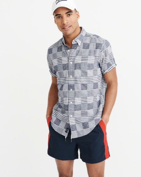 Linen Short Sleeve Shirt from Abercrombie & Fitch
