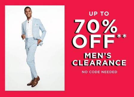 Up to 70% Off Men's Clearance from Lord & Taylor