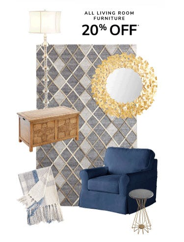 20% Off All Living Room Furniture from Pier 1 Imports