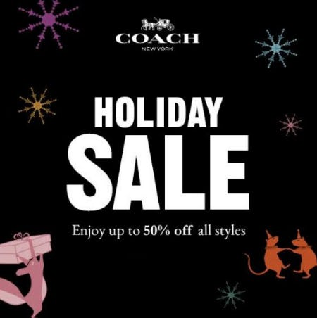 Holiday Sale from Coach