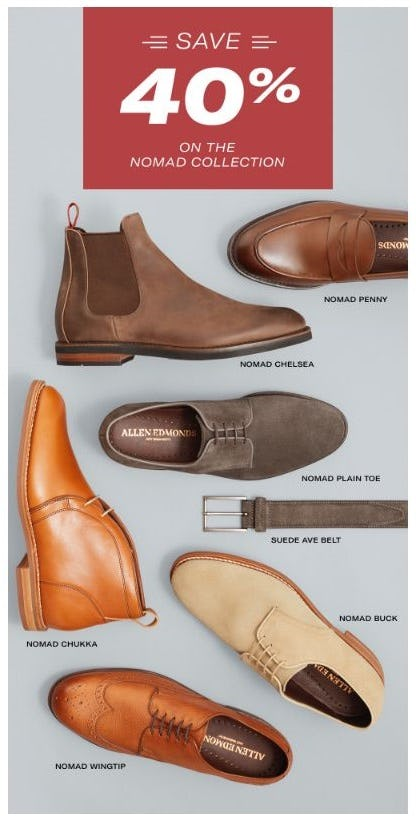 40% Off the Nomad Collection from Allen Edmonds