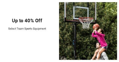 Up to 40% Off Select Team Sports Equipment from Dick's Sporting Goods