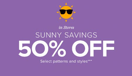 50% Off Sunny Savings