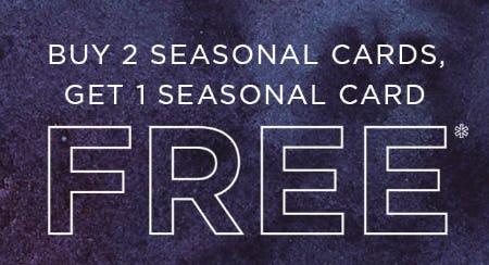 B2G1 Free Seasonal Cards