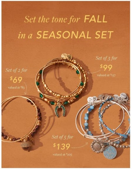 Perfectly Priced Fall Sets from ALEX AND ANI