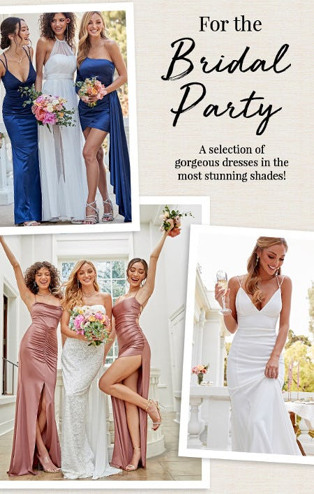 The Most Gorgeous Dresses for the Bridal Party from Windsor