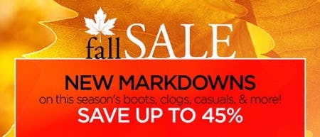 Fall Sale up to 45% Off