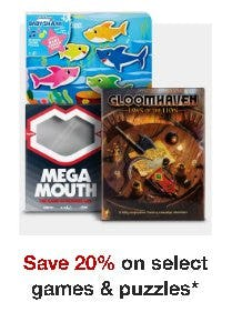 Save 20% on Select Games and Puzzles from Target