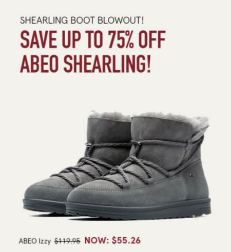 Save Up to 75% Off ABEO Shearling from The Walking Company