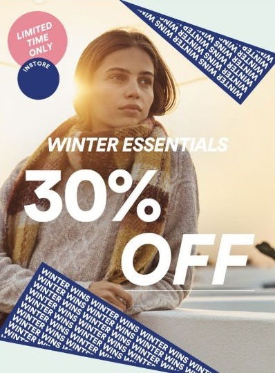 30% Off Winter Essentials from Cotton On