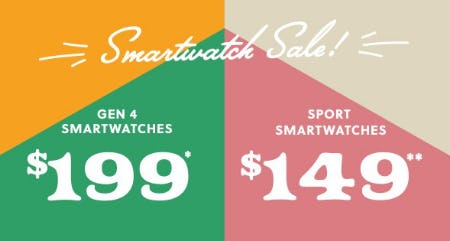 Smartwatch Sale from Fossil