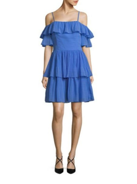 Adelyn Rae Ruffle-Trimmed Fit-and-Flare Dress from Lord & Taylor
