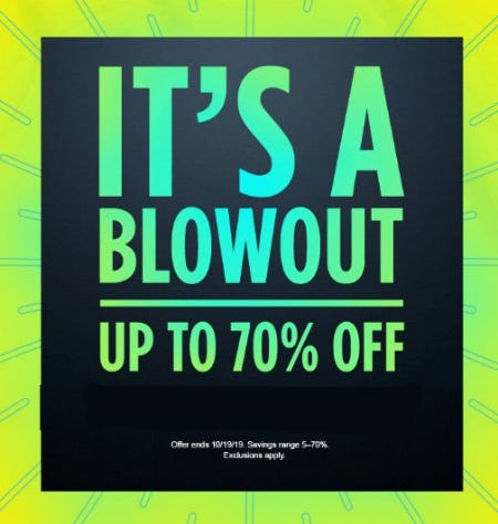 Blowout Deals up to 70% Off