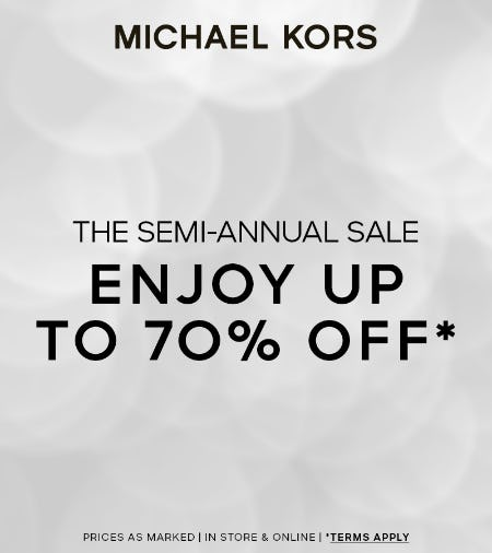Semi Annual Sale from Michael Kors