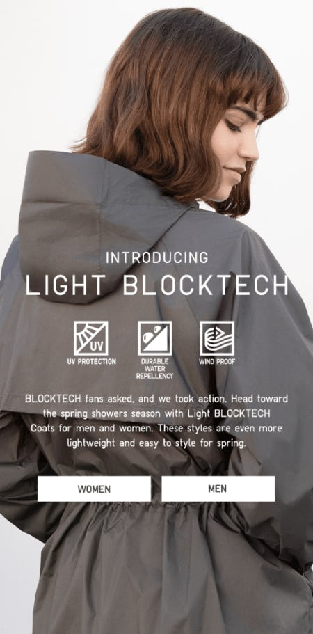 Introducing Light BlockTech from Uniqlo