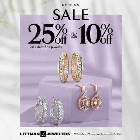 January 7 Day Sale from Littman Jewelers