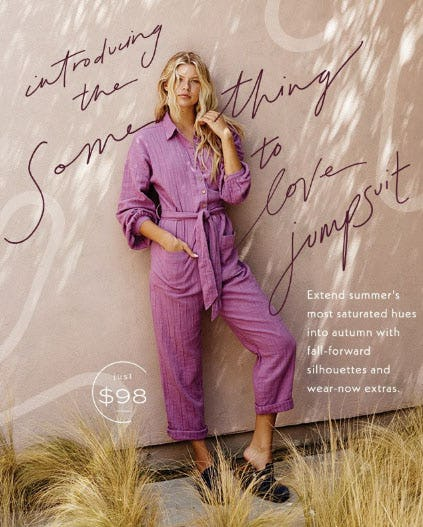Introducing The Some Thing to Love Jumpsuit from Free People
