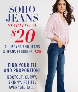 Soho Jeans Starting at $20 from New York & Company