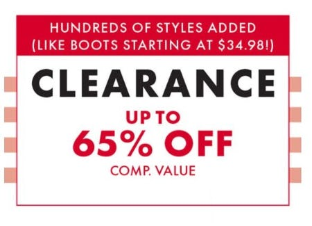 Clearance up to 50% Off from DSW Shoes