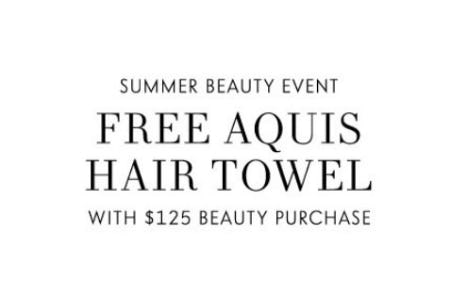 Free Aquis Hair Towel with Purchase from Neiman Marcus