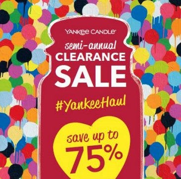 Yankee Candle's Semi-Annual Clearance Sale!