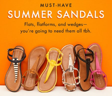 Must-Have Summer Sandals from DSW Shoes