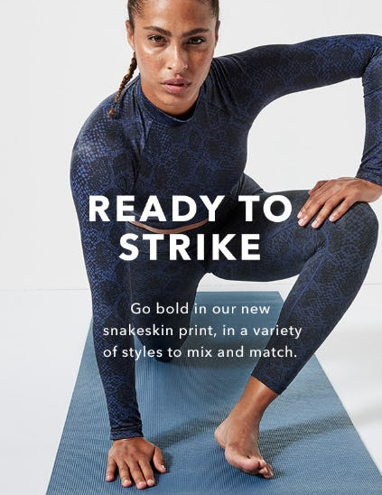 Introducing Snakeskin Prints and Styles from Athleta