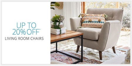 Up to 20% Off Living Room Chairs