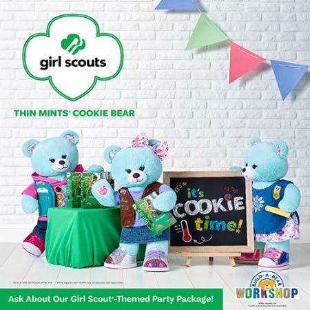 Make a Sweet New Friendship with Girl Scouts Thin Mints® Cookie Bear! from Build-A-Bear Workshop