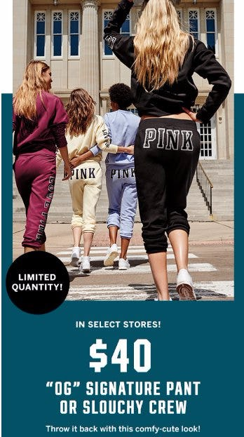 """$40 """"OG"""" Signature Pant or Slouchy Crew"""