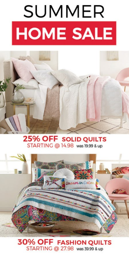 Summer Home Sale from Stein Mart
