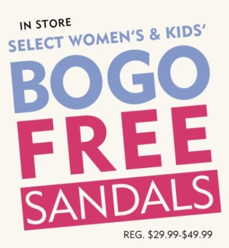BOGO Free Select Women's & Kids' Sandals from Shoe Carnival