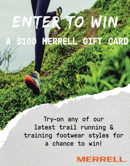 Win a $100 Merrell Gift Card from Merrell