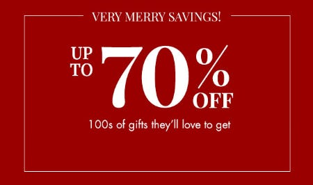 Up to 70% Off Gifts