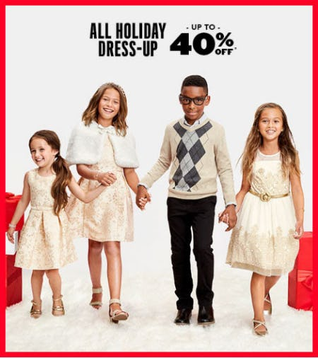 Up to 40% Off All Holiday Dress-Up from The Children's Place